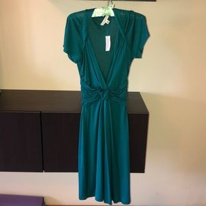 silk banana republic midi dress